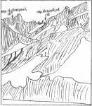 Вид на перевалы Надозерный и Искровцев из ущелья Даут