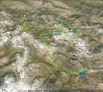 Фотография пройденного маршрута со спутника