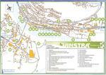 """Карта Вінстри. Готель Амундсен позначений цифрою 20 (""""голландський будинок для приїжджих""""), кемпінг Bøygen -- цифрою 22, а залізничний вокзал -- 15."""
