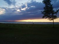 Вечір на озері Світязь